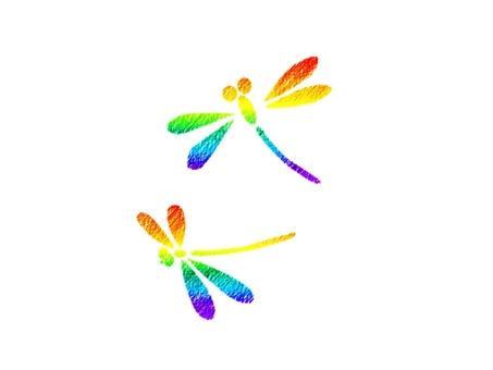 Rainbow color registration mark