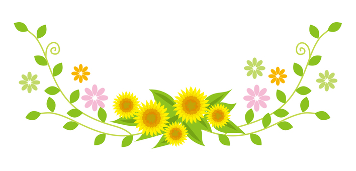 Sunflower ornaments