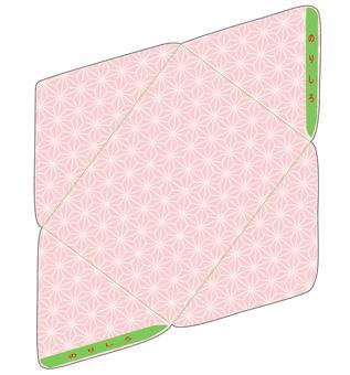 Hemp leaf pattern envelope