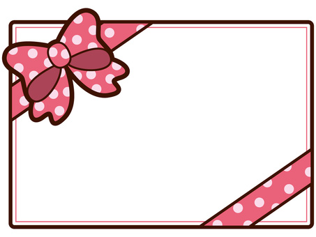 Message card with ribbon