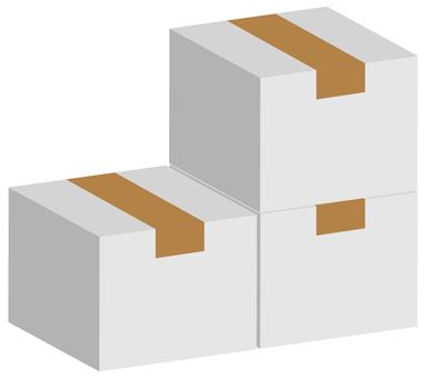 ダンボール箱白