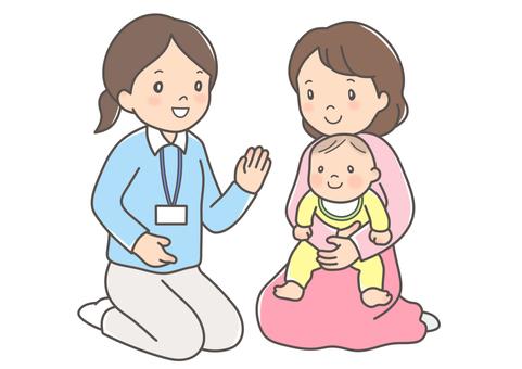 Public health nurse and mother