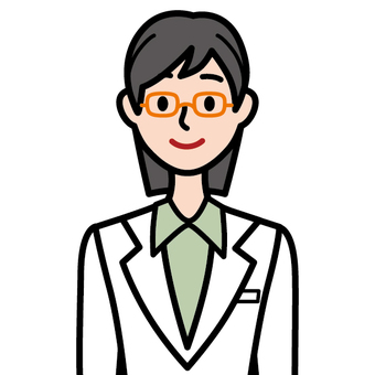 Female researcher wearing white coat