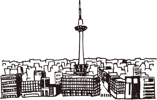 Landscape (Kyoto Tower · Sketch)