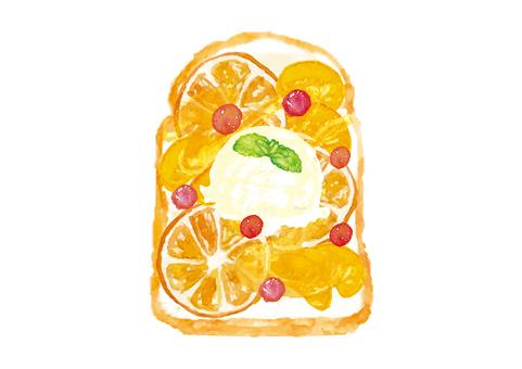 """Watercolor"" open sand _ orange"
