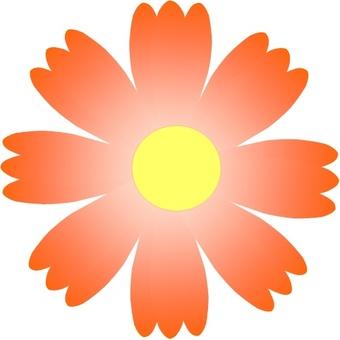 Cosmos flower icon (Orange)