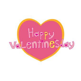 Valentine's letter Pink Heart