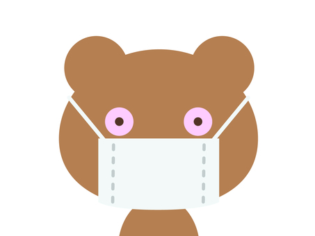 Hay fever disease bear (mask)