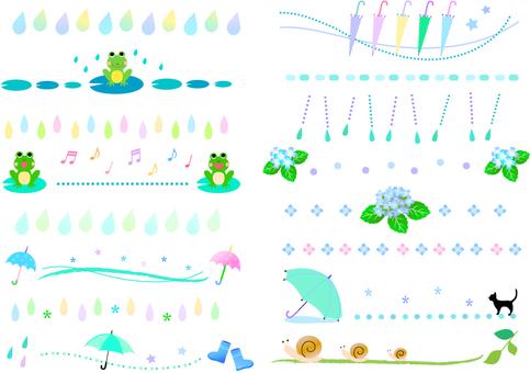 An assortment of lines of the rainy season