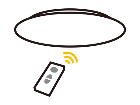 Ceiling light with remote control