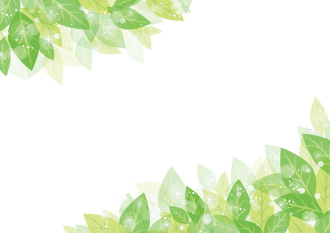 Glittering leaf frame 02