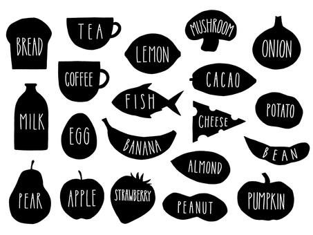 Food logo monochrome