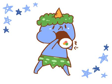 【Setsubun】 Blue Oni and Egata volumes 【Handwritten Wind】