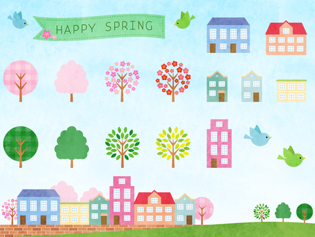 Spring cityscape