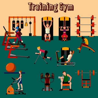 Training gym illustration