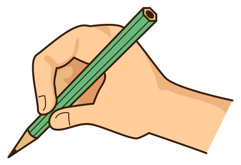 251鉛筆を持つ手