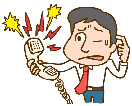 Men who deal with complaint calls