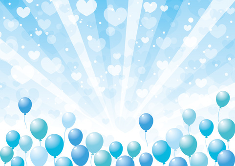 White day _ balloons and hearts _ background 02