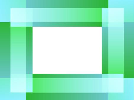 Green & light blue frame