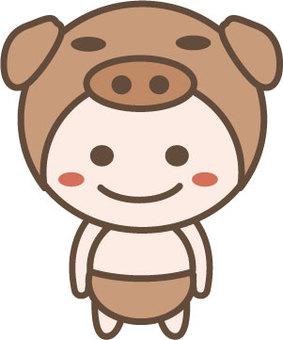 Swine character 6