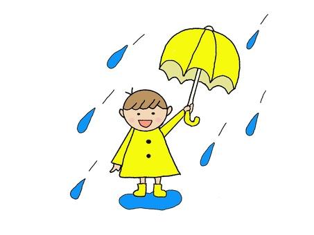 Rain Children Children rainy season