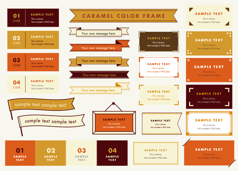 Caramel color frame