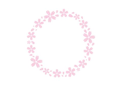 벚꽃 프레임 (원형)