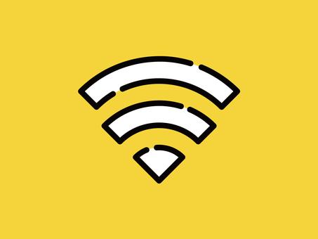 大きなアイコン Wi-Fi 通信