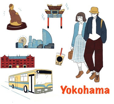 Yokohama Chinatown, red brick and other sightseeing spots