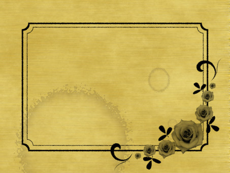 Baked style rose frame plate background stained