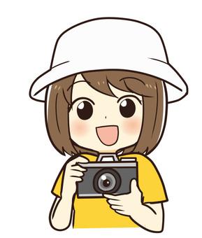 カメラとお母さん