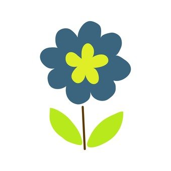 Scandinavian flowers (blue)