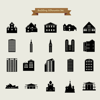 Building silhouette pack