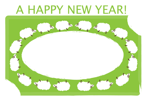 Sheep's New Year card
