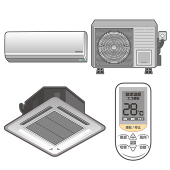 Air Conditioner Illustration Material Assorted Set