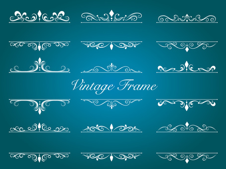 Vintage Frame Decorative Ruled