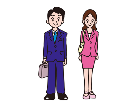 Man and woman businessman