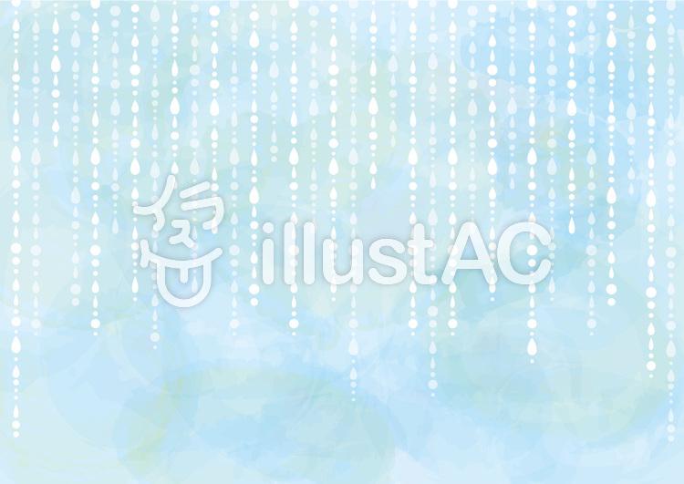 背景雨梅雨6月雫水滴水彩画水色手描き壁紙イラスト No 無料イラストなら イラストac