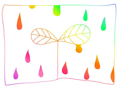 Rainbow 【Background】 Leaf