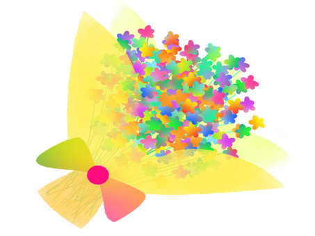 Bouquet Rainbow Rainbow color icon Festive flower