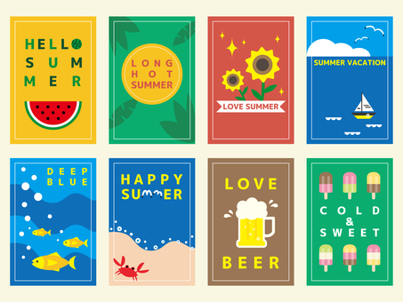 Summer material (card longitudinal) 01
