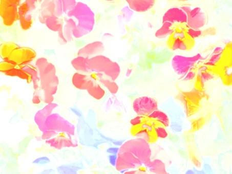 꽃 벽지 수채화