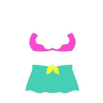 Skirt type bikini