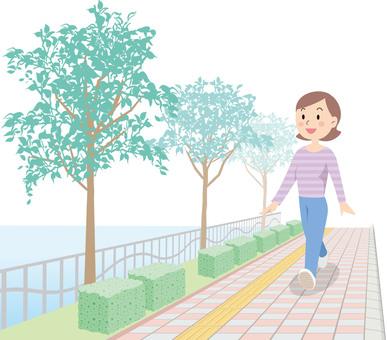 Walk illustration