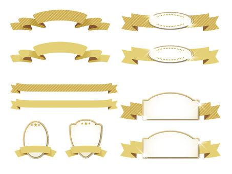 Ribbon & emblem gold