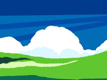 초원과 구름 2