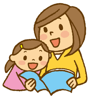 Mom and child (Let's read ♪)