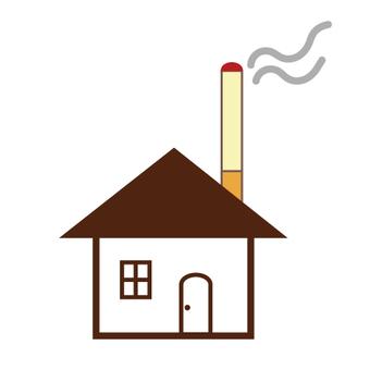 圖像在房間裡吸煙