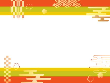 Japanese pattern frame 1
