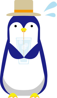 Drinking penguin